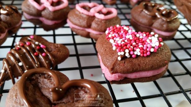 Chocolate Raspberry Valentine's Sandwich Cookies n © 2017 Impress! Bakeware, LLC.jpg