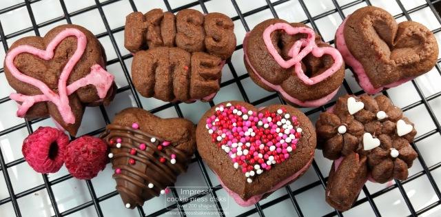 Chocolate Raspberry Valentine's Sandwich Cookies r © 2017 Impress! Bakeware, LLC.jpg