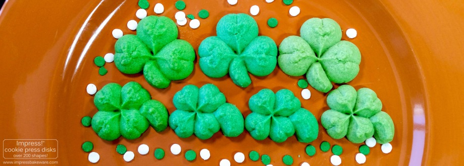 Shamrock & Four Leaf Clover St. Patrick's Day Cookies