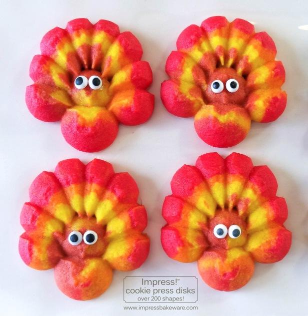 cc Colorful Fall Leaves, Turkeys, and Pumpkins cookie press spritz W © 2017 Impress! Bakeware, LLC.jpg