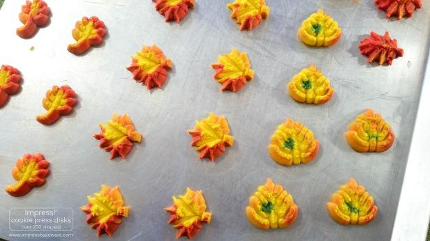 h Colorful Fall Leaves, Turkeys, and Pumpkins cookie press spritz W © 2017 Impress! Bakeware, LLC.jpg
