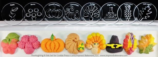 Thanksgiving 8 Disk Set for Cookie Press © 2014 Impress! Bakeware, LLC spritz