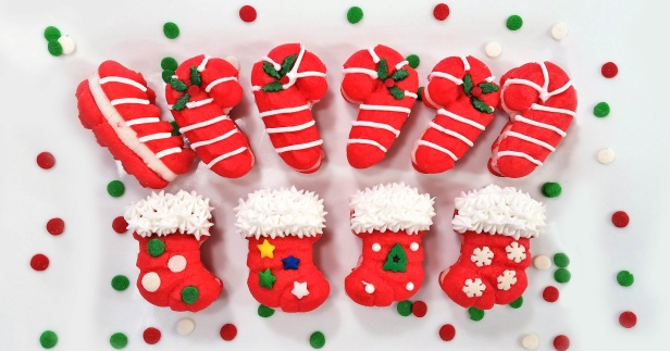 a Peppermint Candy Cane & Stocking Sandwich Cookies Stuffed Crushed Peppermint cookie press spritz © 2017 Impress! Bakeware, LLC.jpg