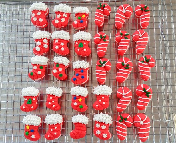 w Peppermint Candy Cane & Stocking Sandwich Cookies Stuffed Crushed Peppermint cookie press spritz © 2017 Impress! Bakeware, LLC.jpg