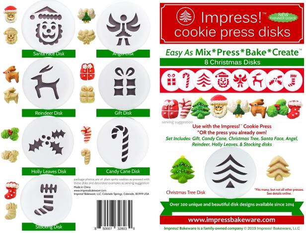 Christmas Cookie Press Disk Set spritz © 2019 Impress! Bakeware, LLC