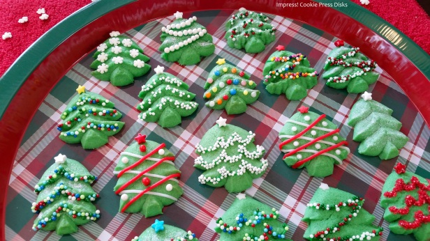 dwk Spritz Cookie Christmas Trees cookie press spritz © 2017 Impress! Bakeware, LLC.jpg