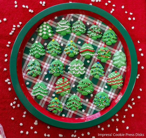 pwk Spritz Cookie Christmas Trees cookie press spritz © 2017 Impress! Bakeware, LLC