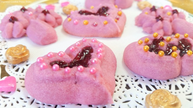 b Raspberry Thumbprint Valentine's Spritz Cookies cookie press ww © 2018 Impress! Bakeware, LLC.jpg