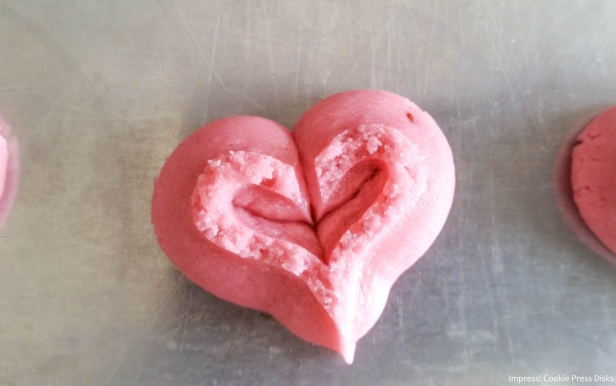 g Raspberry Thumbprint Valentine_s Spritz Cookies cookie press w © 2018 Impress! Bakeware, LLC