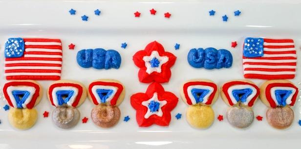 a Patriotic Olympics & Medals Spritz Cookies cookie press spritz p © 2018 Impress! Bakeware, LLC.jpg