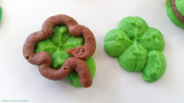 mw Chocolate Mint St. Patrick's Day Sandwich Cookies cookie press spritz © 2018 Impress! Bakeware, LLC.jpg