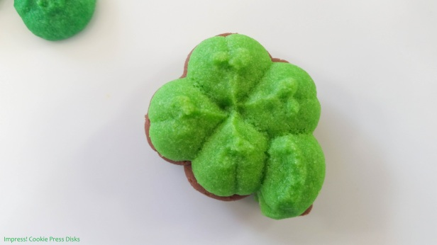 ow Chocolate Mint St. Patrick's Day Sandwich Cookies cookie press spritz © 2018 Impress! Bakeware, LLC.jpg