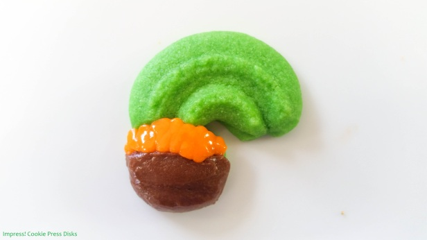 qw Chocolate Mint St. Patrick's Day Sandwich Cookies cookie press spritz © 2018 Impress! Bakeware, LLC.jpg