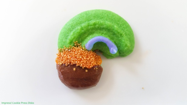 sw Chocolate Mint St. Patrick's Day Sandwich Cookies cookie press spritz © 2018 Impress! Bakeware, LLC.jpg