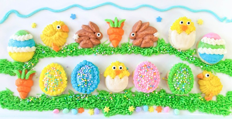 Chicks Eggs Bunnies Carrots Easter Spritz Cookies With Video
