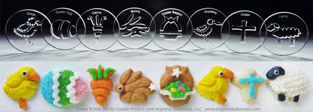 Easter 8 Disk Set for Cookie Press © 2016 Impress! Bakeware, LLC spritz.jpg