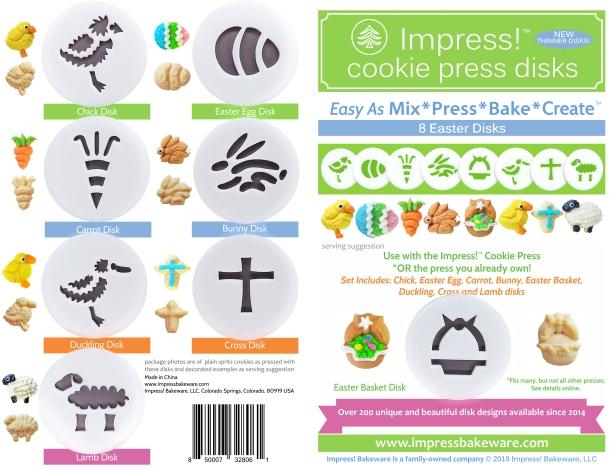 Easter Cookie Press Disk Set spritz © 2019 Impress! Bakeware, LLC