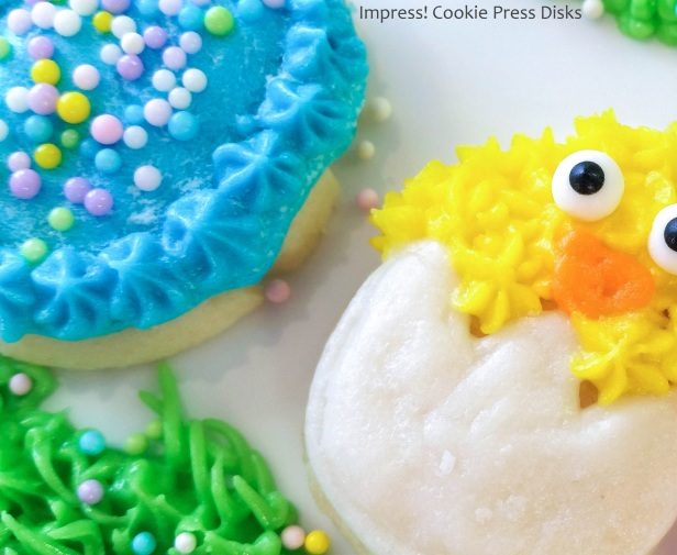 l Easter Cream Cheese Spritz Cookies Chicks Eggs Bunnies Carrots cookie press © 2018 Impress! Bakeware, LLC.jpg