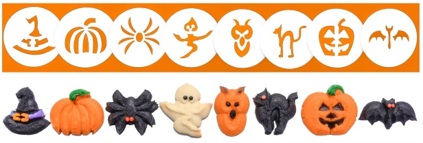Halloween Cookie Press Disk Set spritz © 2019 Impress! Bakeware, LLC H