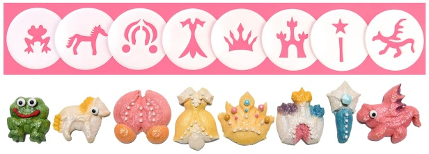Princess & Fairytale Cookie Press Disk Set spritz © 2019 Impress! Bakeware, LLC H