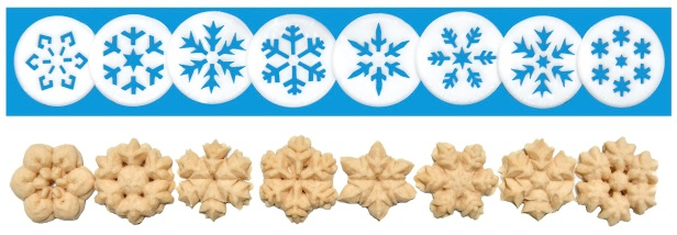 Snowflakes Cookie Press Disk Set spritz © 2019 Impress! Bakeware, LLC H