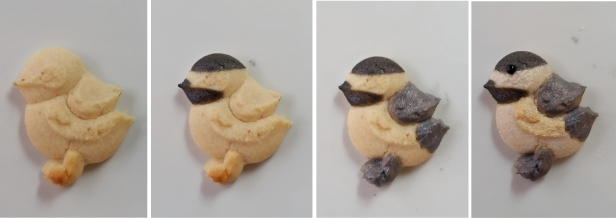Chickadee in Woodland Christmas Spritz Cookies © 2019 Impress! Bakeware, LLC