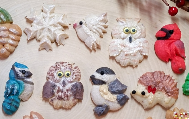 Woodland Christmas Spritz Cookies © 2019 Impress! Bakeware, LLC f