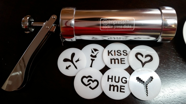 Valentine's Day cookie press disks © Impress! Bakeware, LLC