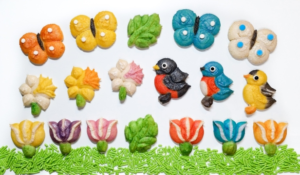 Spring Spritz Cookies flowers birds butterflies leaves AA © 2020 Impress! Bakeware, LLC