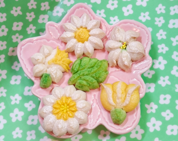 Spring Spritz Cookies flowers daffodil lily daisy tulip leaves © 2020 Impress! Bakeware, LLC